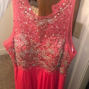 Coral plus size homecoming dress